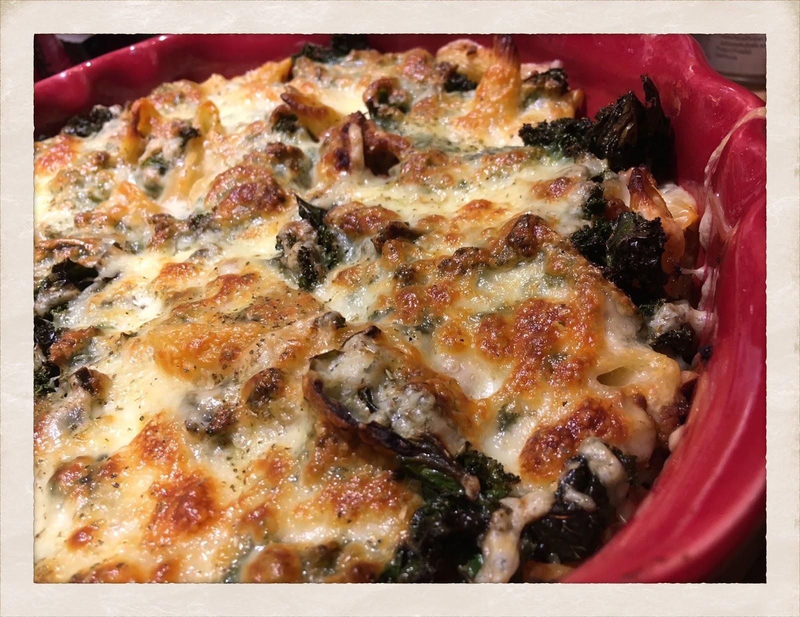 pastagratäng med köttfärs och mozzarella
