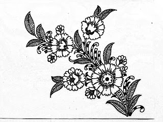 How to draw an easy florals design for hand embroidery