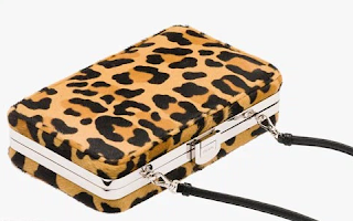 Clutch animal print de Prada