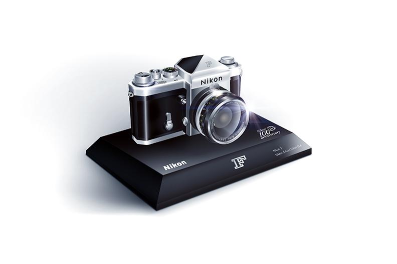 Масштабная модель камеры Nikon F в пропорции 1:2