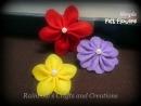 simple felt flowers