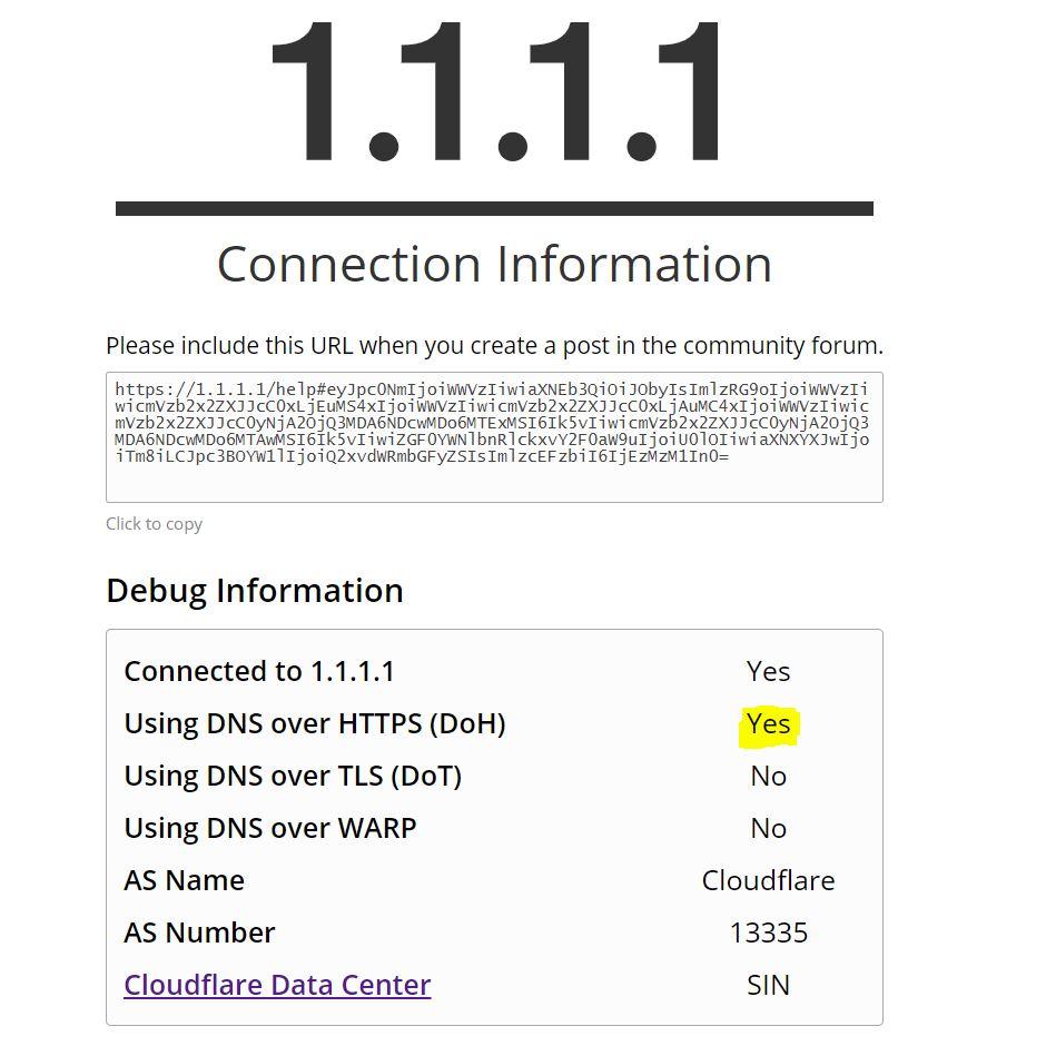 DNS Cloudflare status
