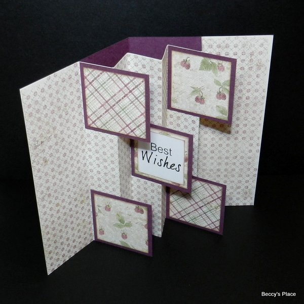 Beccy 39 s place tutorial flag fold cards for How to make folded christmas cards