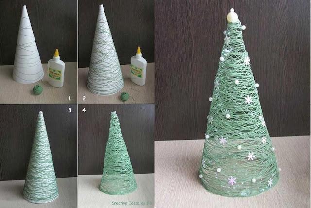 Como Hacer Maquetas Arbol Navidad Para Regalar - Arbol-de-navidad-con-vasos-de-plastico