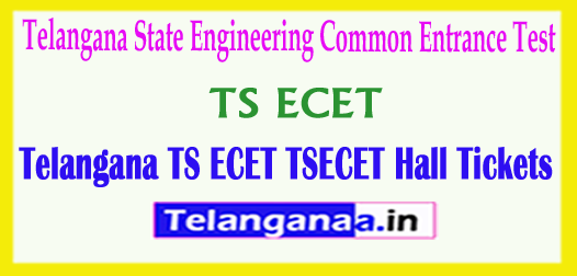 Telangana TS ECET HallTickets TSECET 2018 Hall Tickets Download