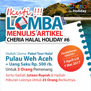 Lomba Menulis Artikel Cheria Wisata