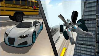 Flying Car Robot Simulator Apk v1 Mod Money Unlocked