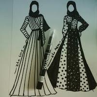 Contoh Desain Busana sebagai keterangan dari unsur dan prinsip desain busana