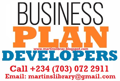Business Plan Developers (consultants) in Nigeria - Call 07030722911
