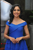 Actress Ritu Varma Pos in Blue Short Dress at Keshava Telugu Movie Audio Launch .COM 0024.jpg