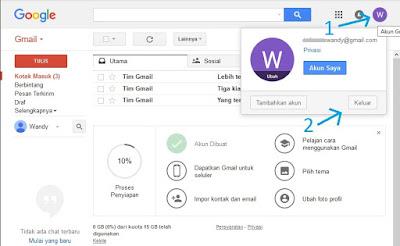 Cara logout email gmail