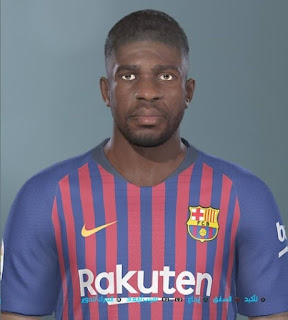 PES 2019 Faces Samuel Umtiti by Shenawy