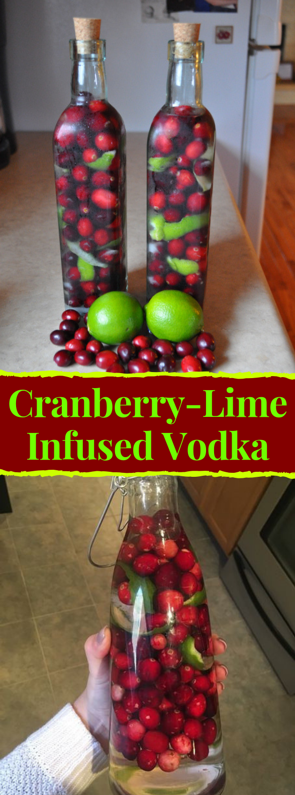 Cranberry-Lime Infused Vodka #drinks #cocktail