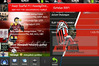 BBM MOD AC MILAN for Android Gingerbread