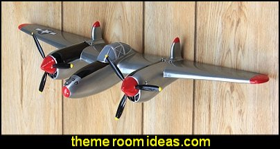 P-38 Fighter Airplane WWII Wall Decor  Army Theme bedrooms - Army Room Decor - Military bedrooms camouflage decorating - Marines decor boys army rooms - camo themed rooms - Military Soldier - Uncle Sam Military home decor - Airforce Rooms - military aircraft bedroom decorating ideas - boys army bedroom ideas - Navy themed decorating