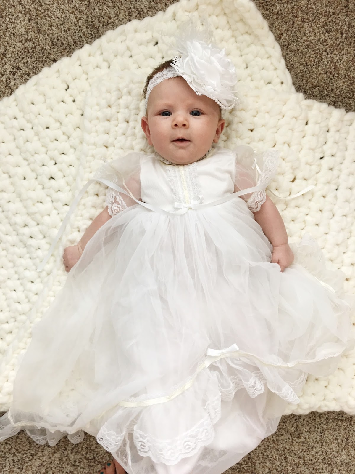 Baby Blessing, Baby Blessing Dress, Baby Blessing Headband
