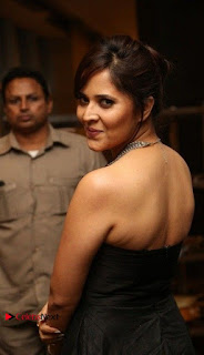 Telugu Anchor Actress Anasuya Bharadwa Stills in Strap Less Black Long Dress at Winner Pre Release Function  0029.jpg
