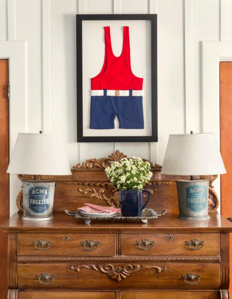 Framed Bathing Suit Wall Art
