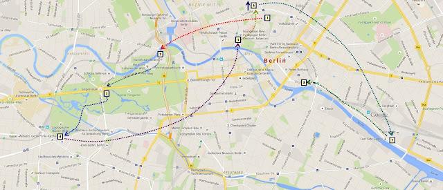 Ruta seguida la segunda jornada de viaje por Berlín