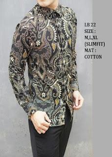 Gambar Model Baju Batik Pria Lengan Panjang