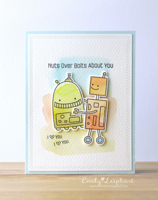 Miss Tiina Bionic Bots stamp set and Die-namics - Emily Leiphart #mftstamps