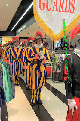 Swiss Guards, Landmark Mall, Makati, Manila, Philippines