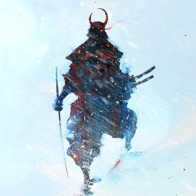 Samurai in Snow Wallpaper Engine