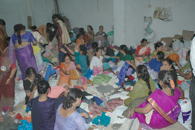 old is gold, sorting,students, clothes, distribution, Mumbai, 13 point programme