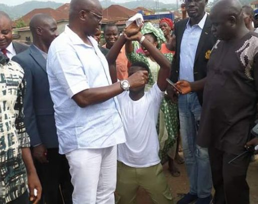 Fayose gives Corper automatic employment after he greeted him with respect