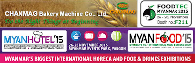 Chanmag bakery machine invites you join myanfood 2015