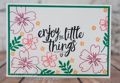 Enjoy The Little Things Love And Affection Cards for Any Occasion.  Buy Stampin'  Up! UK products here