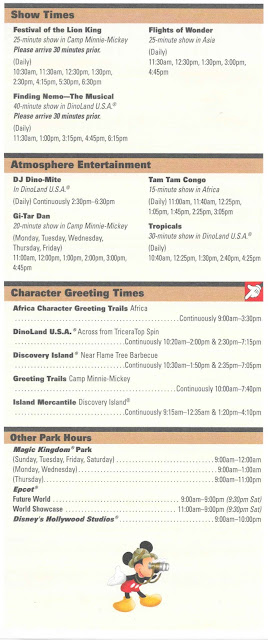 Times Guide Disney's Animal Kingdom 2011