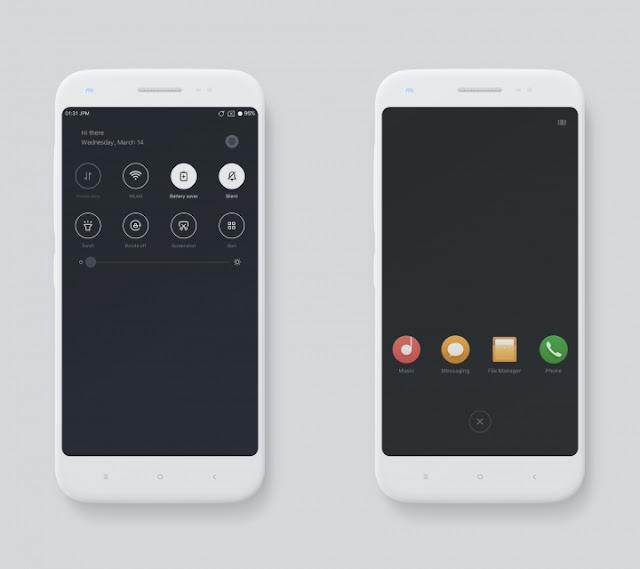 Download Tema Xiaomi Material Dark Mtz Terbaru