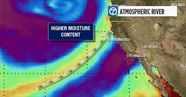 ADVERTENCIA: rio atsmosferico impactara California.