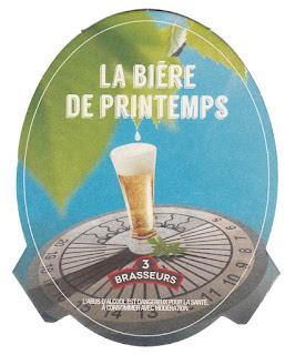 Le sous-bock de la bière de Printemps des 3 Brasseurs