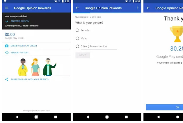 2018, Google opinion rewards application