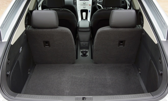 Chevrolet Volt UK boot and rear seats