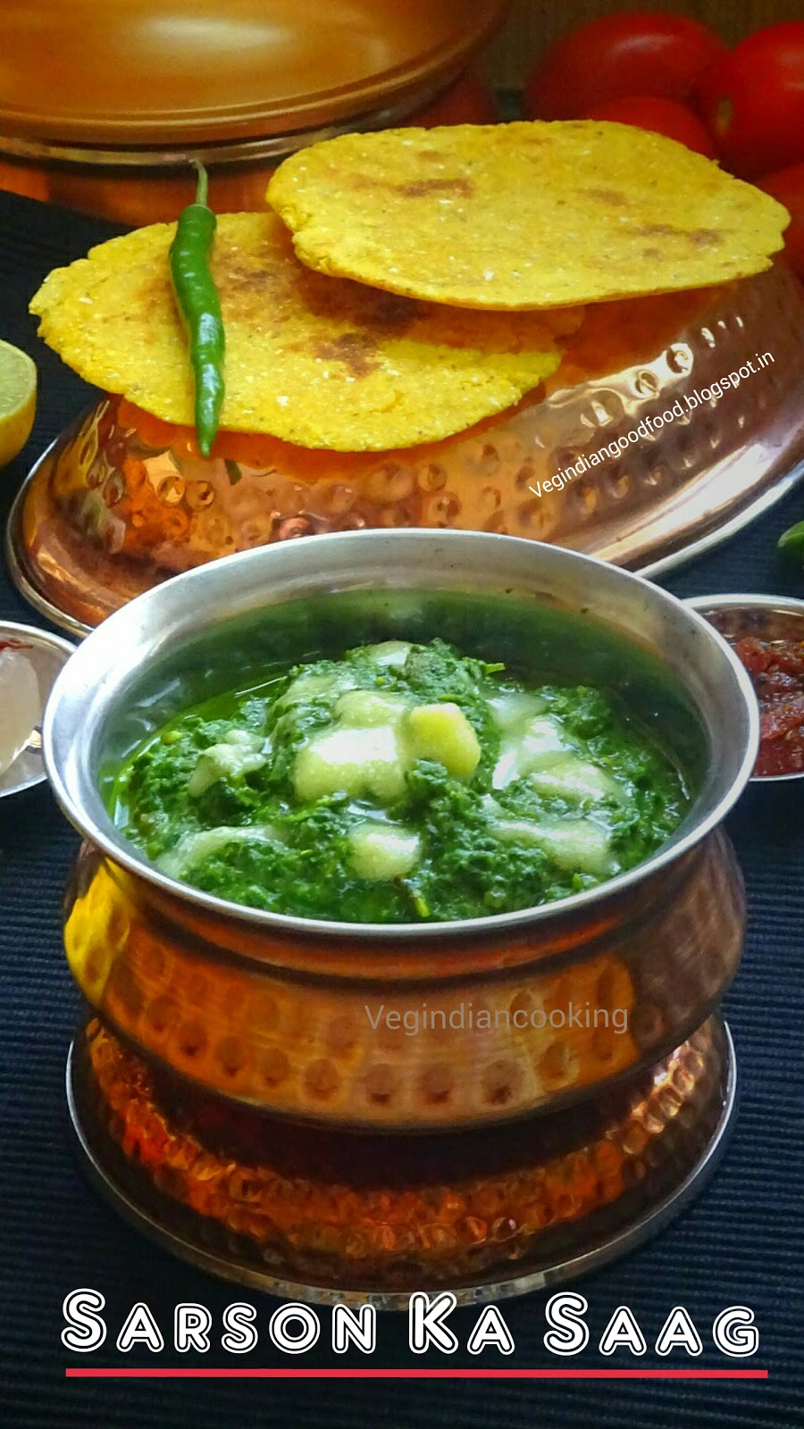 Veg indian cooking sarson ka saag sarson ka saag makki ki roti is a quintessential food cooked during the winter season in the north part of india sharing sarson ka saag recipe with step forumfinder Image collections