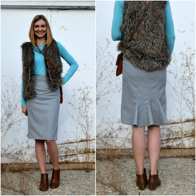 Me Made: A Gray Woven Runway Skirt Pattern