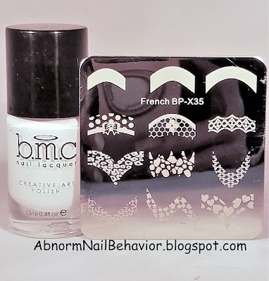 BMC Bam white special stamping polish