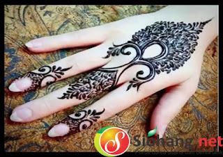 Motif Henna Tangan Sederhana Yang Sangat Cantik