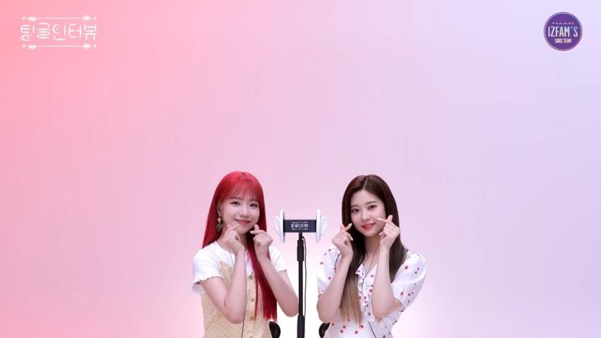 IZONE Tingle Interview Yuri & Minju Sub Indo