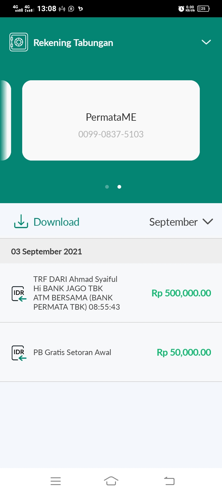 Cashback Buka Rekening Bank Permata
