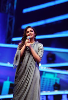 Keerthy Suresh with Cute Smile in Sarkar Audio Launch