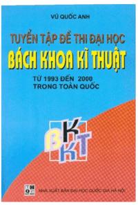 Tuyển Tập Đề Thi Đại Học Bách Khoa Kỹ Thuật