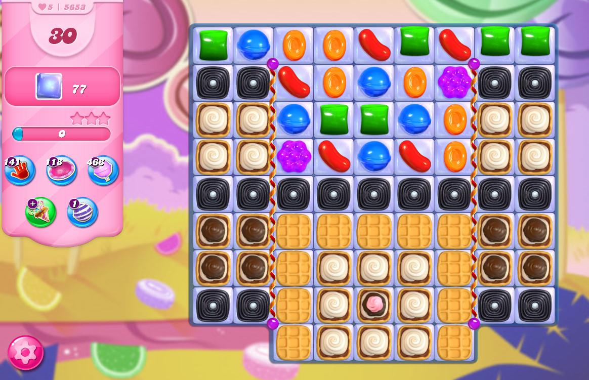 Candy Crush Saga level 5653