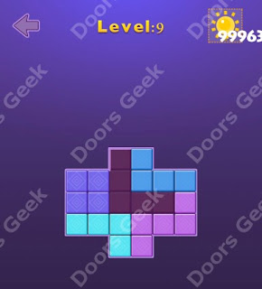 Cheats, Solutions, Walkthrough for Move Blocks Easy Level 9