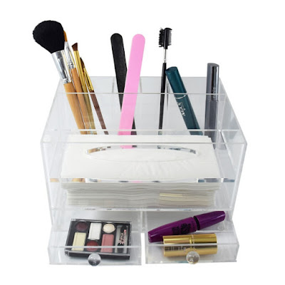 Shop Nile Corp Wholesale All in One Premium Acrylic Makeup,Tissue box, Makeup cleaning Organizer