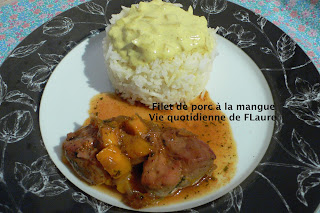 Vie quotidienne de FLaure: Filet de porc à la mangue