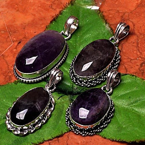NEW ITEM UP ~ AMETHYST PENDANTS
